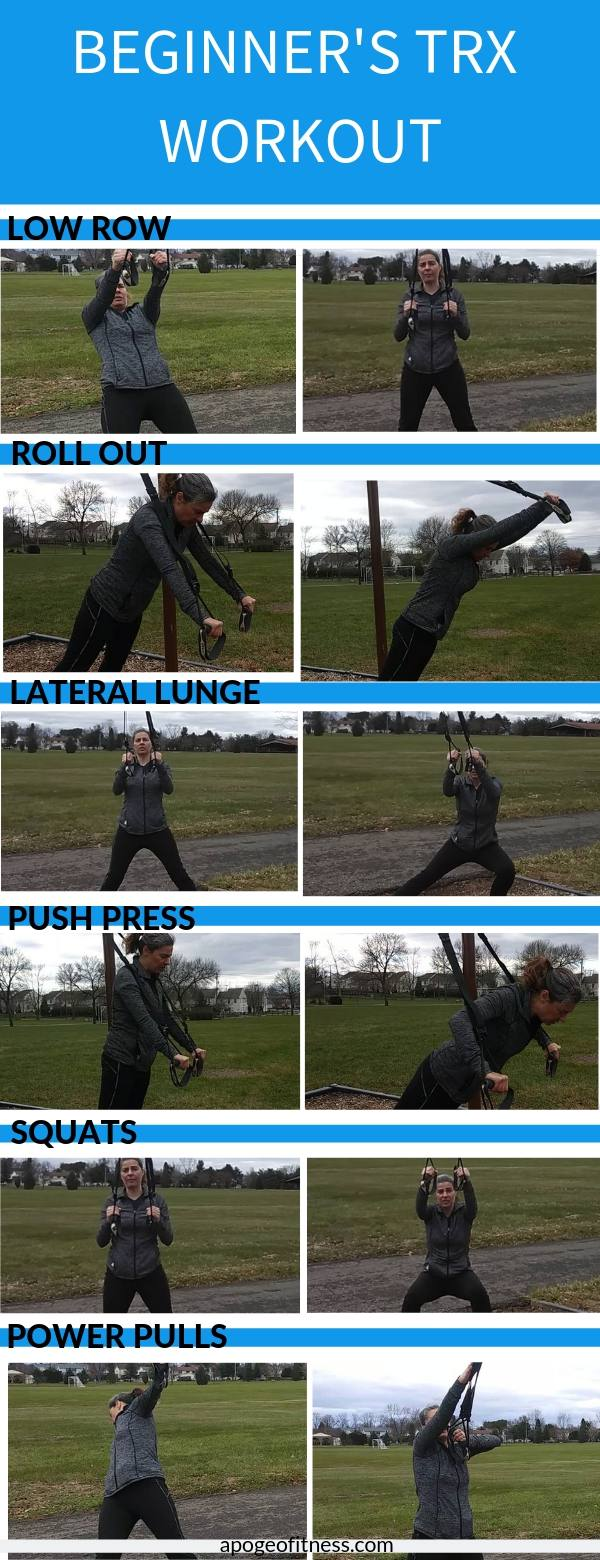 New to TRX? TRX is great for all levels of fitness. If you're looking for a new workout, give this beginner's TRX workout a try. #workouts #fitnessforbeginners