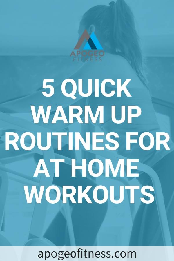 Warmups before workouts. It's the thing that we skip most often when we're short on time. It's important to prepare your body to take on the rigors of HIIT workouts or any type of workouts. You'll reduce your chances of nagging injuries. Take a look at these quick warm up exercises you can do before your next workout. #warmup #workouts